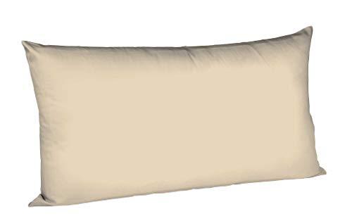 Fleuresse 9100 Colours Taie d'oreiller en Satin de Coton mako Sable (2043) 50 x 80 cm