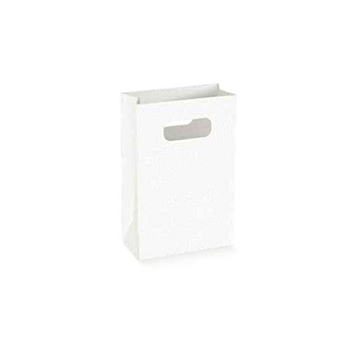 Formoso Scatola Shopper Box Lino Bianco Wedding Bag 12,5x6,5x180 Cm 10 pz Art 71669