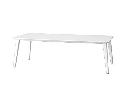 Keter Gartentisch, Feile, 240 cm, für den Außenbereich, geeignet für 8 Personen, Weiß