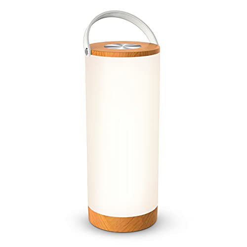 Rechargeable Bedside Table Lamp, Touch Sensor Portable Lantern with Memory Function and 4000mAh Battery, Dimmable Night Lights for Bedroom, Living Room, Office, Outdoor Camping