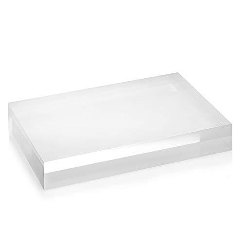 Acrylblock 80x120x20mm transparent, rundum glänzend polierte Seitenkanten/Acryl/Acrylglas - Zeigis®