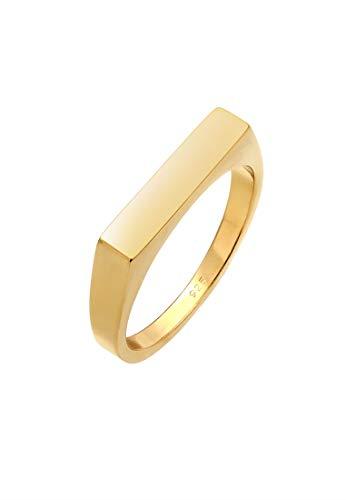 Elli Ring Damen Siegelring Eckig Basic in 925 Sterling Silber