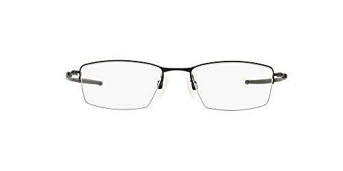 Oakley Men's OX5113 Lizard Titanium Rectangular Prescription Eyeglass Frames, Satin Black/Demo Lens, 54 mm