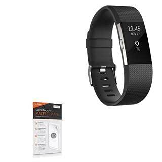 Película protetora de tela Fitbit Charge 2, BoxWave® [antirreflexo ClearTouch (pacote com 2)] película fosca antidigitais para Fitbit Charge 2