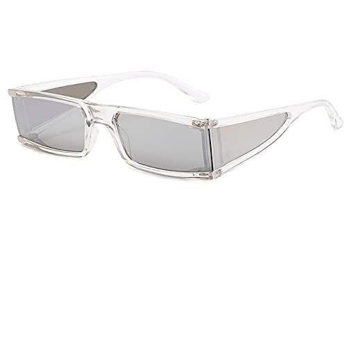 ATARSM Gafas de Sol para Mujer, pequeñas, Steam Punk, Gafas de Sol para Mujer, cuadradas Irregulares, para Mujer, anteojos rectangulares Vintage Uv400
