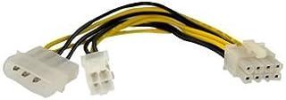 Startech.com EPS48ADAP - Cable Adaptador de alimentación EPS de 4 a 8 Pines con Molex, 15 cm