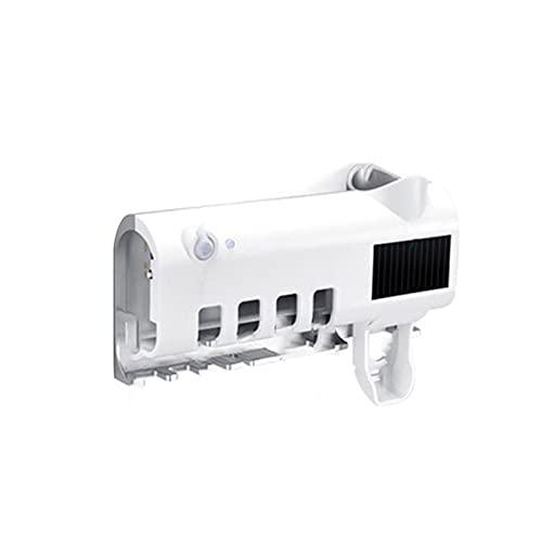 FSLLOVE FANGSHUILIN Haushalt 4-Position UV. Lampe Sterilisator Zahnbürstenhalter Wandmontage Speicher (Color : White)