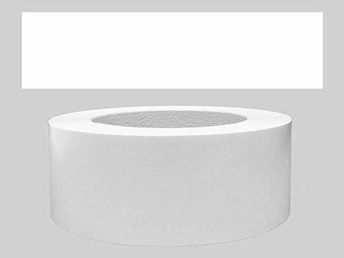 Mprofi MT® (5m Rotolo) Bordi melaminici per i bordi dei mobili con colla Bianco liscio 60 mm