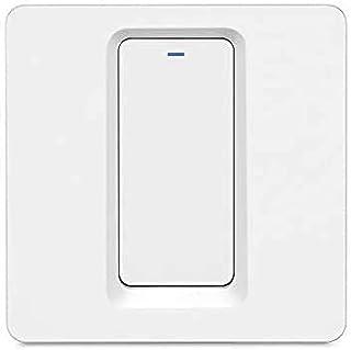 LNIDEAS Smart lichtschakelaar, wifi, wandschakelaar, vereist nul geleider, fysieke knop, schakelaar, afstandsbediening, co...