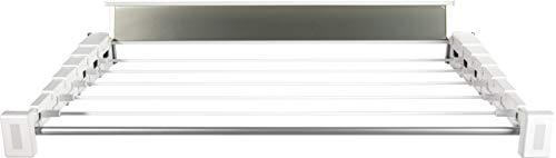 stewi Teleskop Prestige 60 cm Wandwäschetrockner, Kunststoff/Aluminium, Weiss, 60 x 10 x 6 cm