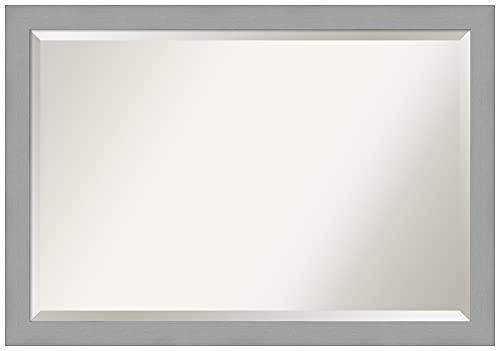 Amanti Art Bathroom Wall Mirror (27.4 x 39.4 in.), Brushed...