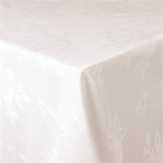 20 Restauration ce513 Nappe, Roslyn tissé rose, 137,2 x 177,8 cm Blanc