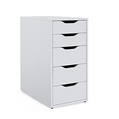 "Ikea Drawer Unit, 14 1/8"" x 27 1/2"", White, Alex 101.928.24"