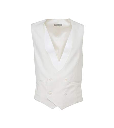 Luxury Fashion | 0909 Heren W701522100WH Wit Wol Gilets | Seizoen Outlet
