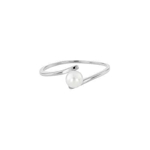 Heideman Ring Damen Perlenring aus Edelstahl Silber farbend poliert Damenring für Frauen mit Swarovski Perle