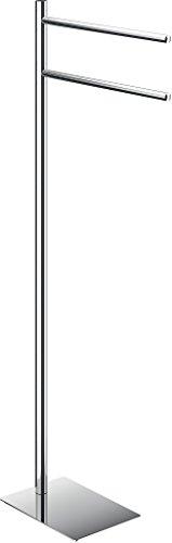 Gedy Trilly portasciugamani da Pavimento, Acciaio Inox, Cromo, 14x 34x 83.3cm