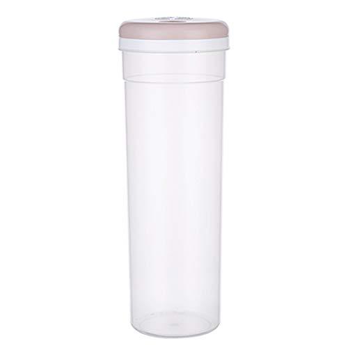 YYLL Storage Jars Canisters Pasta Storage Jars Plastic Transparent Storage Tank Kitchen Storage Containers,Food Preservation Storage Sealed Tank Grain Multi Grain Storage Tank (Color : Pink)
