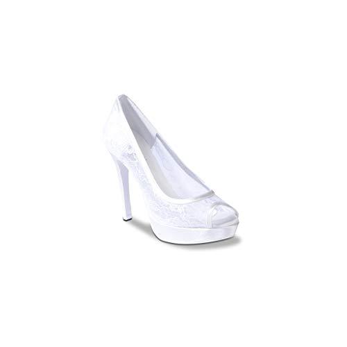 Melluso T H231 - Donna, 100 Pc.Rete Thulle Bianco Sposa, 41