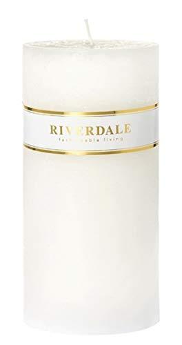 Riverdale - Kaars Pillar wit 10x20cm