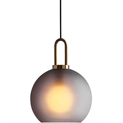 WEM Lámpara de araña decorativa novedosa, lámpara colgante de vidrio moderno, lámpara colgante de decoración interior de esfera esmerilada simple, dispositivo de suspensión de cafetería de restaurant
