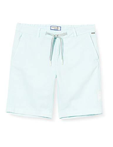 Scotch & Soda Shrunk Jungen Baumwollleinen Shorts, Blau (Sky Blue 0112), 164 (Herstellergröße:14)