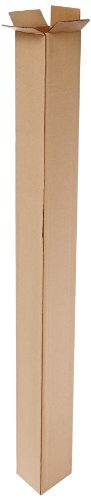 Aviditi 4448 Tall Corrugated Box, 4' Length x 4' Width x 48' Height, Kraft (Bundle of 25)