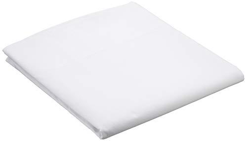 Amazon Basics - Lenzuolo 'Everyday' in 100% cotone, 180 x 260 cm - Bianco
