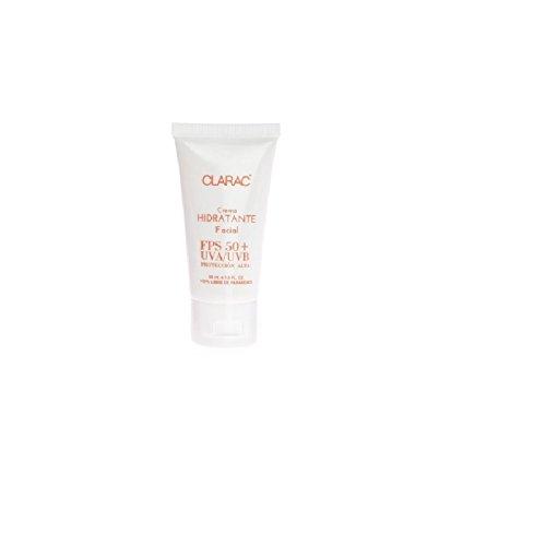 Crema hidratante facial con protección solar 50 SPF