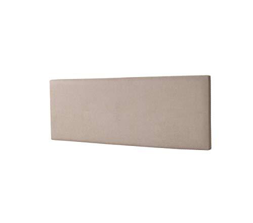 DHOME Cabecero de Polipiel o Tela AQUALINE Liso cabeceros Cabezal tapizado Cama Lujo (Tela Beige, 160cm (Camas 150/160))