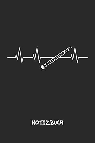 NOTIZBUCH: Notebook für Sänger Musik Bands & Instrumente Liebhaber - musikalisches Geschenk für Freundin und Freund | Notizheft in A5 (6x9 Inch) | ... | Mein Herz schlägt für Flöten Cover Motiv