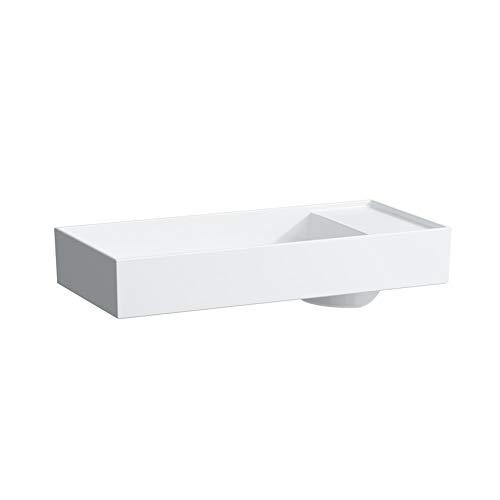 Laufen Kartell Waschtisch-Schale, 1 Hahnloch, ohne Überlauf, mit Armaturenbank, 750x350, Farbe: Weiß