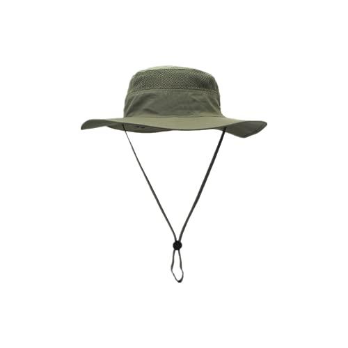 Sombrero para el Sol para Hombre Sombrero para el Sol Transpirable de ala Ancha Sombrero para el Sol Senderismo Camping Viaje Pesca (Verde Militar)