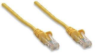 Intellinet - Cable de red (5 m, conectores chapados en oro, CCA, aluminio revestido), U/UTP (cable sin apantallamiento/par trenzado sin apantallamiento), PVC, RJ45 macho a RJ45 macho, contactos chapados en oro, sin enganches