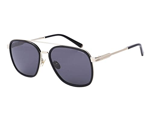 POLICE Gafas de Sol LEWIS 21 SPLC49 X LEWIS HAMILTON Black/Grey 58/17/145 unisex