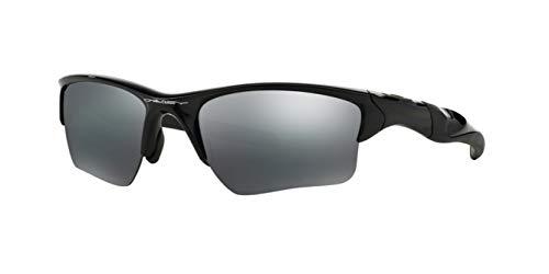 Oakley Half Jacket 2.0 XL, OO9154 (01) Polished Black/Black Iridium 62mm, Sunglasses Bundle with original case, and accessories (5 items)