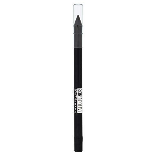 Maybelline New York - Tattoo Liner, Lápiz de Ojos Semi-permanente, 900 Deep Onyx Negro, 1.3 gr