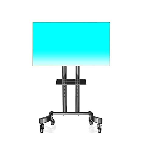 IJNBHU Soporte para TV móvil, Carro para Soporte de TV LCD en el Piso Estante de 32/43/50/55/65 Pulgadas, Cinco Estilos Disponibles (Color: Negro, tamaño: D)
