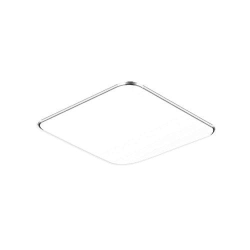 SAILUN 12W Ultra Thin LED Sensor Blanco Frío Lámpara de techo moderna para sala de estar, cocina, dormitorio, baño, hotel - Plata