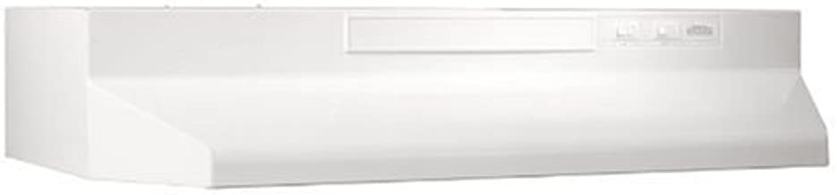 Broan White F403011 Two-Speed Four-Way Convertible Range Hood, 30-Inch