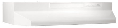 Broan-NuTone White Broan F403011 Two-Speed Four-Way Convertible Range Hood, 30-Inch,White on White
