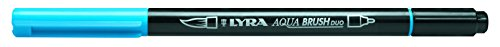 LYRA Aqua Brush Duo Rotulador acuarelable, Doble Punta, Azul Claro, Lichtblau