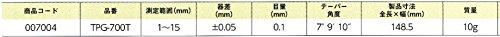 新潟精機 SK 直角測定用テーパーゲージ TPG-700T [7826]