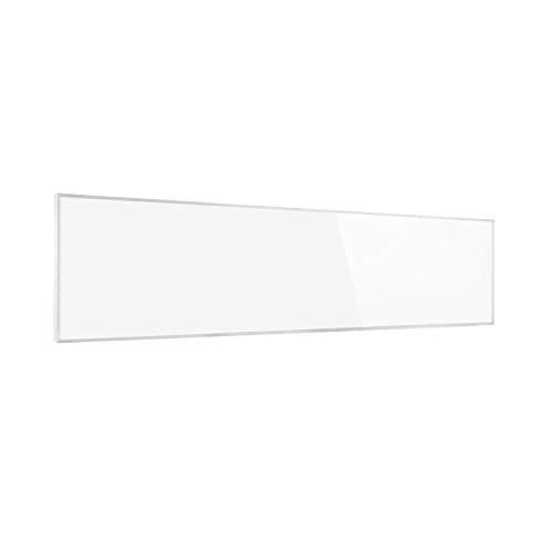 Klarstein Wonderwall Air - Calefactor infrarrojo, infrarrojo de cristal de carbono, IR ComfortHeat, sin ruidos, detección ventana abierta, para alérgicos, termostato, 101 x 60 cm, 600 W, blanco floral