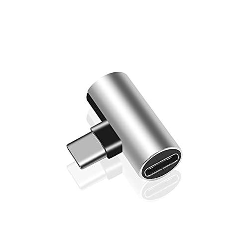 ZRYYD Nuevo Dual Tipo C USB-C Auriculares Auriculares Cargador de Cargador de Carga Adaptador Splitter Convertor 2 en 1 para Xiaomi Huawei (Color : Silver)