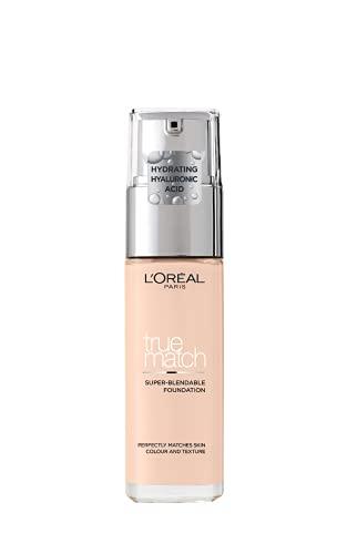 L'Oréal Paris Accord Parfait, Fondotinta Liquido, Pelli da Secche a Normali, Formula arricchita con acido ialuronico, Colore Ivoire (1.N), 30 ml