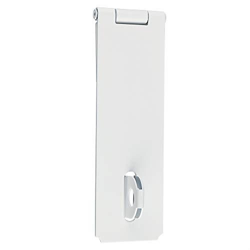 Sayayo Vorhängeschloss Hasp Türverschluss Türschloss Torriegel 15,2 cm, SUS304 Edelstahl matt weiß lackiert, EMS700W-6C