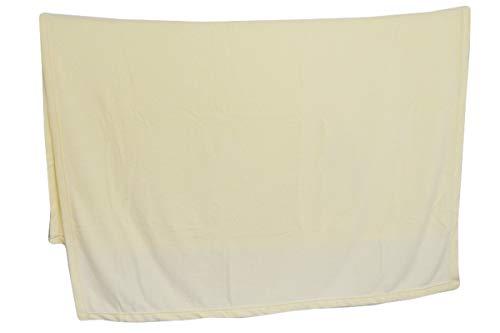 R.P. Daunex Decke aus weichem Fleece, einfarbig, originell weich, 130 x 160 cm, cremefarben