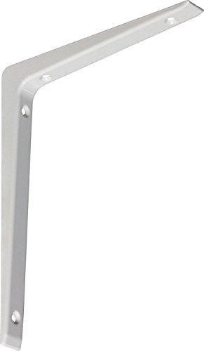 IB-Style - 1x Regalträger ALU Druckguss | 5 Größen | 65x100 mm in weiss| Regalhalter/Regalträger aus Aluminium für Wandregale mit Holz- Metall- und Kunststoffböden