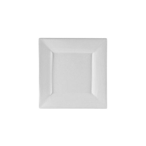 10 Strawberry Street Whittier 6.375' Square Bread & Butter Plate, Set of 6, White