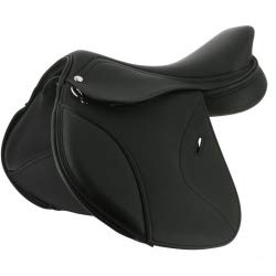 Norton Selle Pro Pony - Sillín, Color Negro, Talla 15